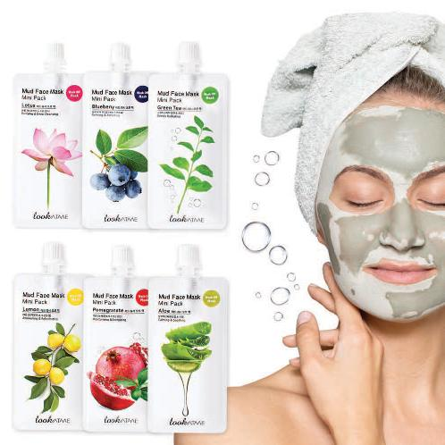 Only 15 minutes Mud Face Mask Mini Pack (6 types, 30ml) to get various effects and beautiful skin