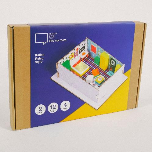 [play my room] Studio Planning/Furniture Arranging Kit for Children (Educational Toys / Italian Retr